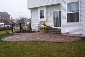House Patio Design by Brick Patio Design With Beautiful Backyard Brick Patio And Grill