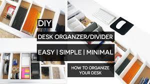 Diy Desk Organization by Diy Desk Organizer Divider Youtube