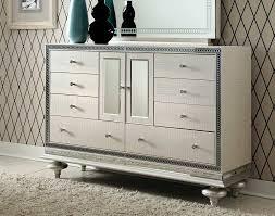 Hollywood Swank Bedroom Furniture Hollywood Swank Pearl Dresser By Aico Aico Bedroom Furniture