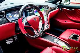 bentley red pearl white tesla model s 2 0 custom bentley red interior