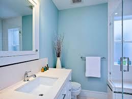 blue and yellow bathroom decor white pendants wall mounted chrome
