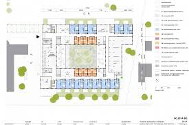 ground floor plan with collective facilities daycare centre