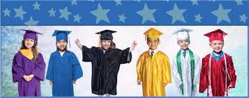 kindergarten cap and gown children s kids graduation gown and hat set with tassels