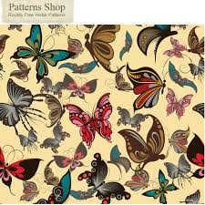 butterfly pattern background vector free vector 4vector