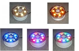 Submersible Pond Lights Aluminum Ring Led Underwater Fountain Lights Musical Fountains