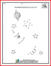 rocket dot to dot to 10 dot to dot math sheets kids party