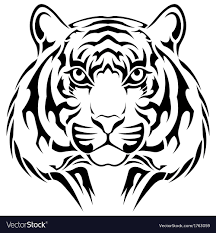 tiger tribal royalty free vector image vectorstock
