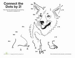 skip counting dot to dots 2nd grade worksheets education com