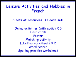 La Familia Worksheets Leisure Activities And Hobbies In Spanish Worksheets Games