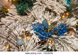 christmas tree ornament edmonton alberta canada stock photo