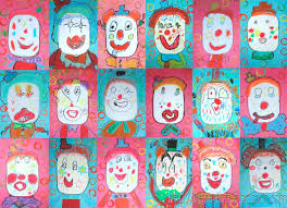 clowning around drawing and painting lessons for kids kinderart