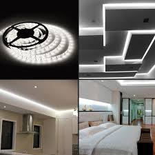 led ceiling strip lights le 12v flexible led strip lights 6000k daylight white waterproof