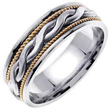 wedding ring depot 14k two tone gold braid band 7mm 3000242 shop at wedding