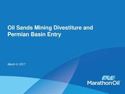 Mro Stock by Marathon Oil Corporation Mro Acquires Permian Basin And Osm