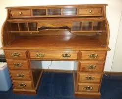 Deliver A Nice Beautiful Riverside Roll Top Desk Oak Finish To Lansing