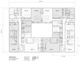 multi family house floor plans multi family conjoined house plans homepeek