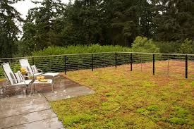 Decorative Outdoor Fencing Garden Fencing Ideas Patio Contemporary With Concrete Paving