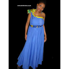 mono sleeve african print combi maxi dress afrofrocks