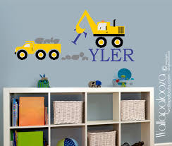 construction kids wall decal nursery wall decal vinyl wall zoom