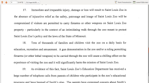 Zoo Resume Gun Watch St Louis Zoo Obtains Restraining Order Against The