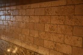 perfect art tumbled travertine backsplash tile backsplash