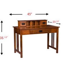 Computer Secretary Desk With Hutch by Amarillo Mission Style Writing Desk With Hutch Oak Walmart Com