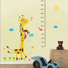 online get cheap paper growth chart aliexpress com alibaba group cartoon pattern growth chart wall stickers for kids room cartoon pig height measure chart mural art