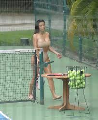 nude photos of kim kardashian kim kardashian wears nude bikini while playing tennis with pal