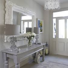 Shabby Chic Console Table Entry Hallway Decorating Ideas Shabby Chic Style With Console