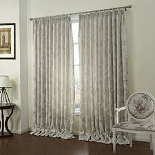 Custom Linen Curtains Leyden Pinch Pleated Country Classic Blossoms Silver Flowers