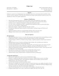 administration resume administration resume objective sample