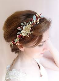 gold headbands burgundy and gold floral headband for marsala wedding