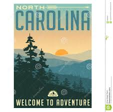 North Carolina travel stickers images Retro style travel poster or sticker north carolina stock vector jpg
