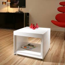 white gloss side table designer end or side table white gloss square modern beautiful 12b