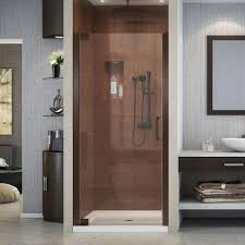 34 Shower Door Dreamline Elegance 34 In To 36 In X 72 In Semi Frameless Pivot