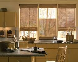 Kitchen Window Treatments Ideas Pictures Kitchen Rustic Country Kitchen Window Ledge Ideas With Brown
