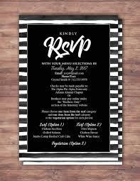 wedding invitation rsvp date rsvp card elegant black and white party prom anniversary party