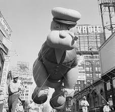popeye balloon in thanksgiving day parade pictures getty images
