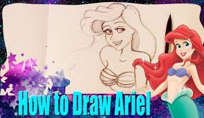 draw ariel disney u0027s mermaid