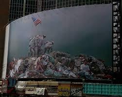 Iwo Jima Flag Raising Staged Macabre Mural Mocks American Military Mayhem Dissident Voice