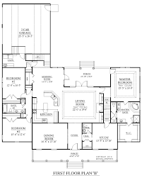 House Plans With Open Floor Plan by House Plan 3027 B Brookgreen B Main Floor House Plans By