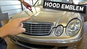 mercedes w211 emblem replacement removal