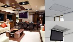 porta tv soffitto porta tv a scomparsa revoover mobile tv orientabile a scomparsa