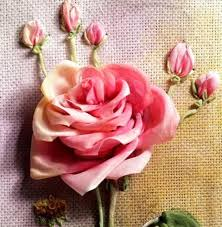 silk ribbon roses 128 best розы images on silk ribbon embroidery