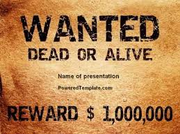 wanted template powerpoint wanted criminal powerpoint template