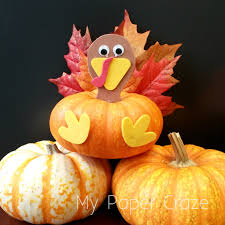 thanksgiving food crafts for kids easy turkey pumpkin craft for kids at thanksgiving my paper craze