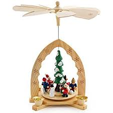 German Wooden Christmas Decorations Australia by Amazon Com Christmas Decoration Pyramid 18 Inches Nativity Play 3