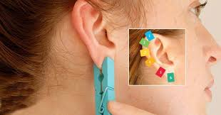 seconds earrings a clothespin on different areas of your ears for 30 seconds the