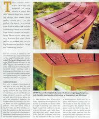 fireside bench plans u2022 woodarchivist