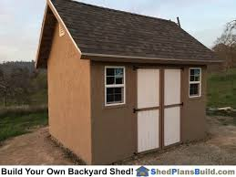 Backyard Storage Sheds Plans by 12x16 Garden Shed Plans With Stucco Plans By Icreatables Com